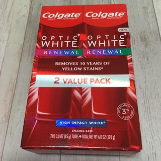 コルゲート オプティックホワイト リニューアル ハイインパクト85g 2本(歯磨き粉)