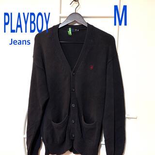プレイボーイ(PLAYBOY)のPLAYBOY Jeans◆濃紺◆M◇カーディガン◇クリーニング済み(カーディガン)