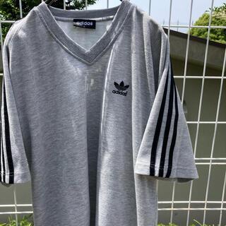 adidas - アディダス グレー tシャツ トレフォイル vintage