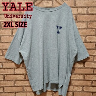 YALE University ビックサイズ ワンポイント ロゴ 半袖 Tシャツ(Tシャツ/カットソー(半袖/袖なし))