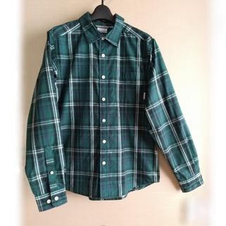 Columbia - Columbia ロールアップストラップ付き 長袖シャツ(緑系・チェック柄)