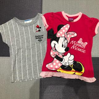 ディズニー(Disney)のはな様専用 Disney ミニーTシャツ2枚 110cm 女の子(Tシャツ/カットソー)
