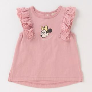 petit main - プティマイン ミニーマウスデザイン Tシャツ