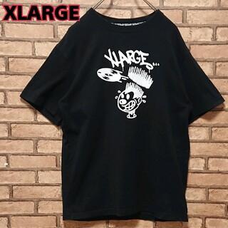 エクストララージ(XLARGE)のXLARGE エクストララージ フロント プリント ブラック 半袖 Tシャツ(Tシャツ/カットソー(半袖/袖なし))