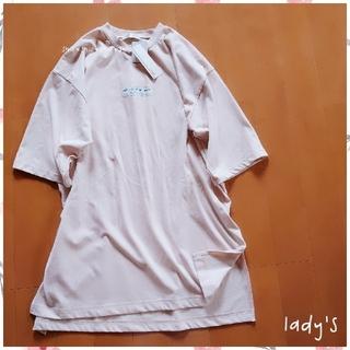 シマムラ(しまむら)の《lady's》大きいサイズ バックプリント ロングTシャツ ワンピース 4L(ひざ丈ワンピース)