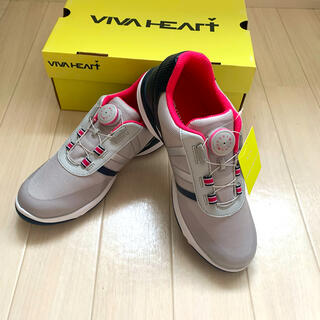 VIVA HEART - 新品■ビバハート■レディース  ゴルフシューズ 23 ダイヤル式 シルバー