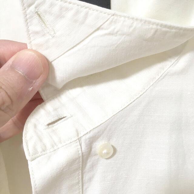 theory(セオリー)のさらに値下げ! Theory セオリー シャツ L 綿 麻 白 メンズのトップス(シャツ)の商品写真