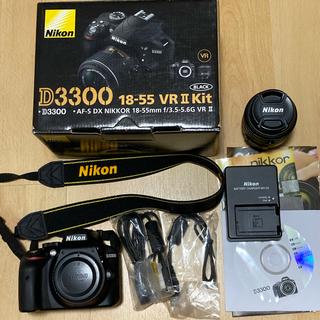 Nikon - ニコン d3300 レンズキット デジタル一眼レフカメラ Nikon ブラック
