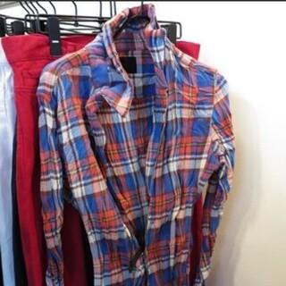 アタッチメント(ATTACHIMENT)のジュンハシモト フックシャツ 美品! サイズ2相当 ブルーオレンジ(シャツ)