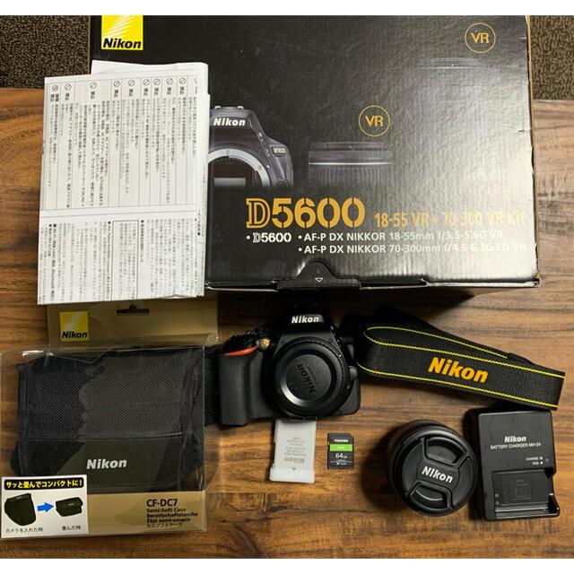 Nikon(ニコン)のNikon D5600 +単焦点レンズ +SDカード64GB スマホ/家電/カメラのカメラ(デジタル一眼)の商品写真