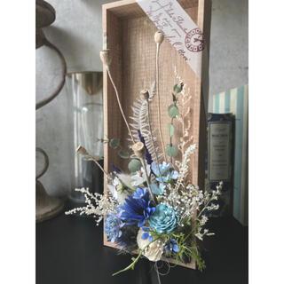 咲きこぼれるSpring flowers/シーブルーMサイズ*母の日に…♡(ドライフラワー)