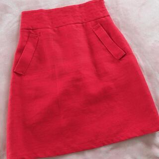 RED VALENTINO - RED Valentino 膝丈 スカート 赤 レッド