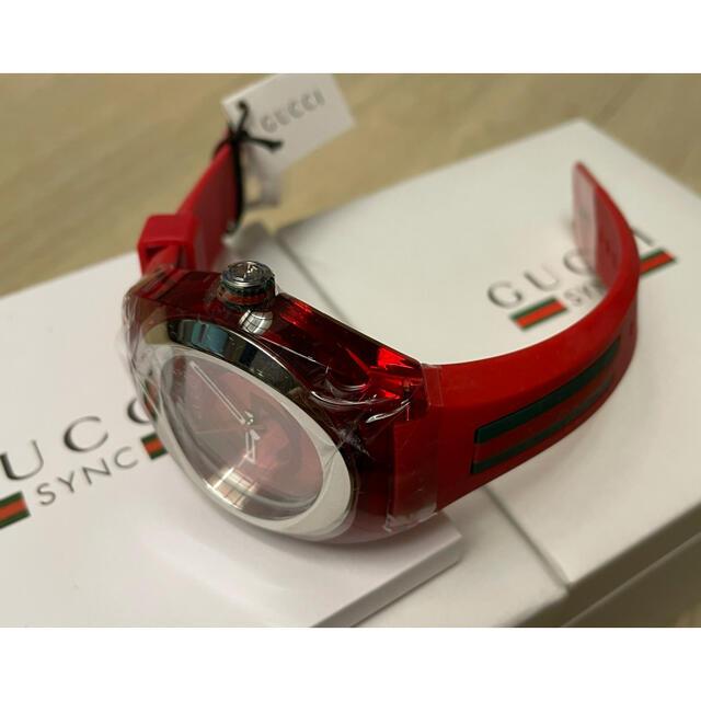 Gucci(グッチ)の新品箱付きグッチ 時計 GUCCI SYNC シンク 46MM腕時計 ウォッチ赤 メンズの時計(腕時計(アナログ))の商品写真