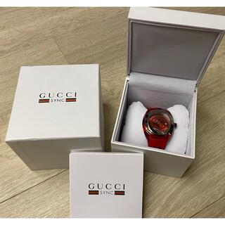 Gucci - 新品箱付きグッチ 時計 GUCCI SYNC シンク 46MM腕時計 ウォッチ赤