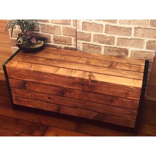 ローテーブル  木製 センターテーブル  ヴィンテージ風 新品(ローテーブル)