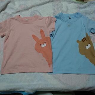 ムジルシリョウヒン(MUJI (無印良品))の無印良品 キッズ Tシャツ 90サイズ 3枚セット うさぎ リス 金魚(Tシャツ/カットソー)