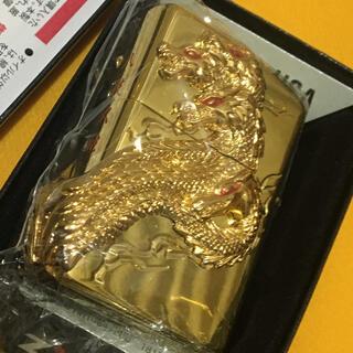 ジッポー(ZIPPO)のZIPPO 全金 GOLD 八岐大蛇 ヤマタノオロチ 3面メタル 新品未使用(タバコグッズ)