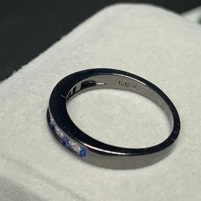 キラキラブルークリスタル2連リング指輪 レディースのアクセサリー(リング(指輪))の商品写真