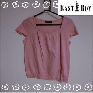 イーストボーイ(EASTBOY)のEASTBOY ピンク Tシャツ M(Tシャツ(半袖/袖なし))