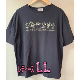 ピーナッツ(PEANUTS)の新品 タグ付き スヌーピー オラフ Tシャツ   レディース LLサイズ(Tシャツ(半袖/袖なし))