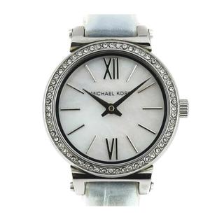 Michael Kors - MICHAEL KORS 腕時計 時計 レザー 皮 ベルト シェル ホワイト