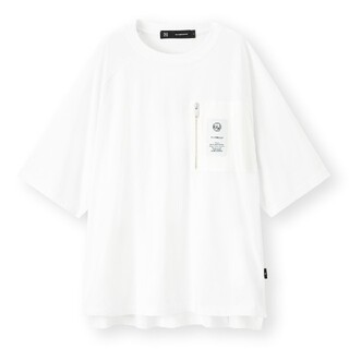 ジーユー(GU)のスーパービッグジップポケットt GU アンダーカバー 新品未使用 ホワイト(Tシャツ/カットソー(七分/長袖))