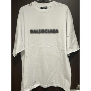 バレンシアガ(Balenciaga)のBALENCIAGA ダメージ ロゴ Tシャツ(Tシャツ/カットソー(半袖/袖なし))