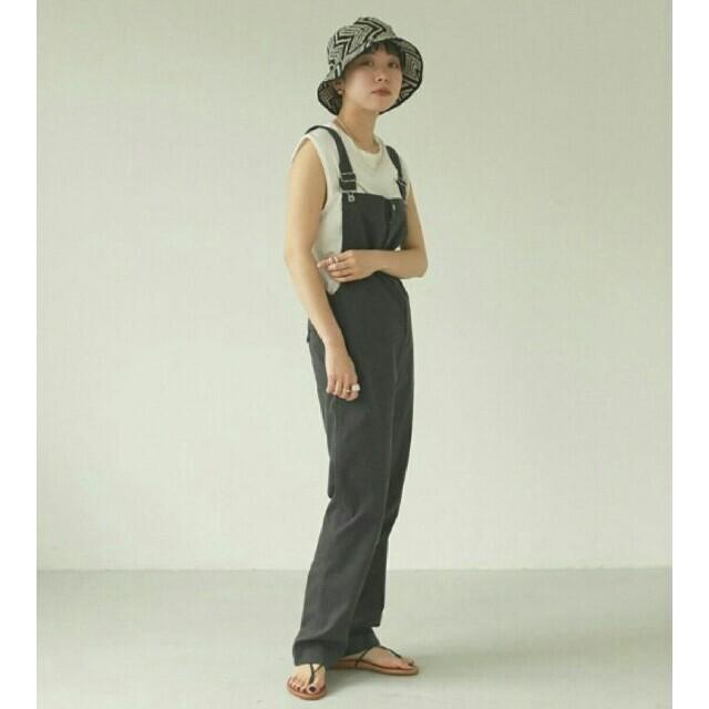 TODAYFUL(トゥデイフル)の【'21新作】TODAYFULコットンスリムサロペット38グレー オーバーオール レディースのパンツ(カジュアルパンツ)の商品写真