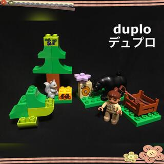 Lego - デュプロ 動物 クマ リス どんぐり 森のくまさん