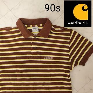 カーハート(carhartt)のCarhartt カーハート ポロシャツ 90s 刺繍 シャツ  ボーダー(ポロシャツ)