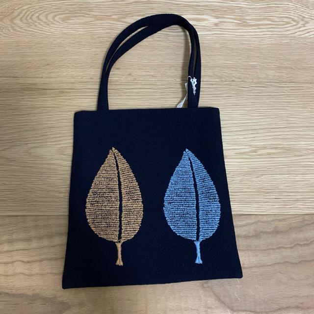 mina perhonen(ミナペルホネン)の最終セール mina perhonen happa ミニバッグ ネイビー レディースのバッグ(ハンドバッグ)の商品写真