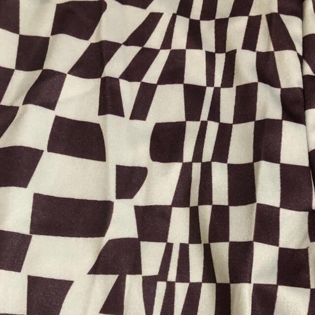 TOMORROWLAND(トゥモローランド)のChecker pants 茶色 チェック柄 サイケデリック レディースのパンツ(カジュアルパンツ)の商品写真