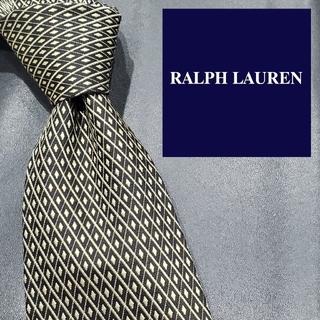 ラルフローレン(Ralph Lauren)のラルフローレン ハイブランド ネクタイ ダイヤ チェック 総柄 メンズ 黒系(ネクタイ)