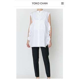 Drawer - YOKO CHAN  No-sleeve Ruffle Shirt