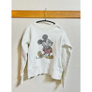 ディズニー(Disney)のスウェット トレーナー ミッキー スパンコール シンプル 限定 ディズニー(トレーナー/スウェット)