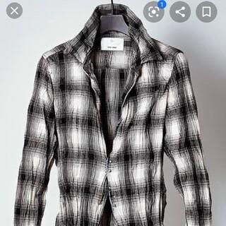 アタッチメント(ATTACHIMENT)のジュンハシモト×アタッチメント フックシャツ サイズ2 ホワイトグレーブラック(シャツ)
