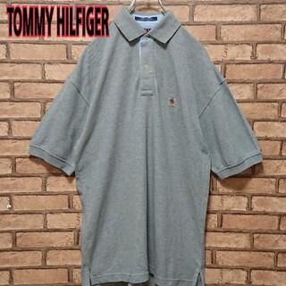 トミーヒルフィガー(TOMMY HILFIGER)のTOMMY HILFIGER 90s フラッグ 旧タグ ワンポイント 刺繍 ロゴ(ポロシャツ)