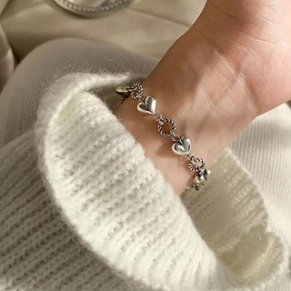 TODAYFUL - 新品 silver925 ハート チャーム ブレスレット