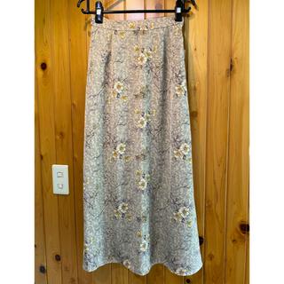 オゾック(OZOC)の花柄ロングスカート(ロングスカート)
