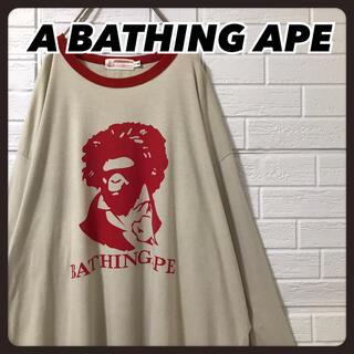 A BATHING APE - ☆希少デザイン☆ エイプ ロンT 長袖 ベージュ ベートーヴェン 初期タグ