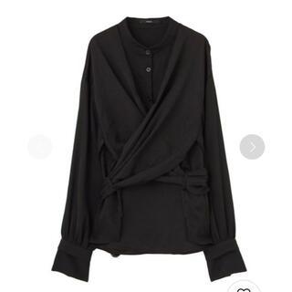 エモダ(EMODA)のEMODA ワイドウエストシャツ ブラック(シャツ/ブラウス(長袖/七分))