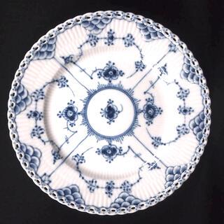 ロイヤルコペンハーゲン(ROYAL COPENHAGEN)のブルーフルーテッド フルレース プレート 1枚(食器)