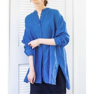 IENA - IENA ラミーリヨセルバックギャザーシャツ ブルー 36