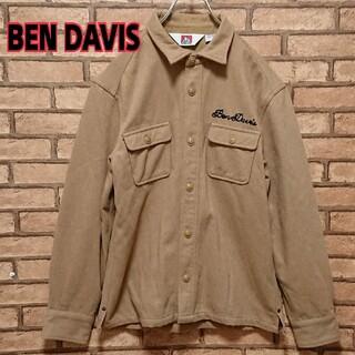ベンデイビス(BEN DAVIS)のBENDAVIS  ベンデイビス 厚手 ウール混 刺繍 ジャケット シャツ(シャツ)
