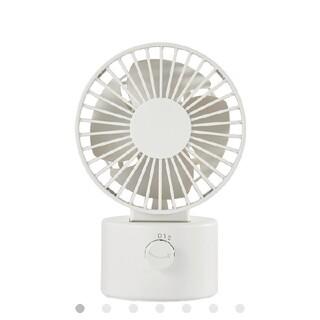 ムジルシリョウヒン(MUJI (無印良品))の無印良品 USBデスクファン(低騒音ファン・首振りタイプ)ホワイト/型番MJ‐(扇風機)