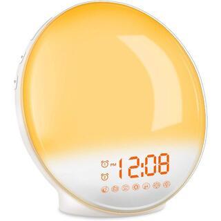 目覚まし時計 光 大音量 目覚ましライト デジタル スヌーズ&ラジオ機能付き(掛時計/柱時計)