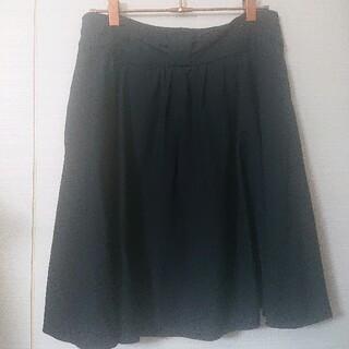アストリアオディール(ASTORIA ODIER)のASTORIA リボンウエストスカート ネイビー(ひざ丈スカート)