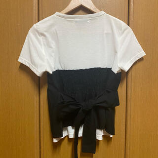 【AZUL by moussy】トップス  半袖  レイヤード風
