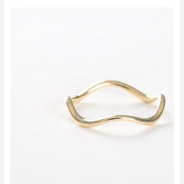 ete(エテ)のete ウェーブリング k10 レディースのアクセサリー(リング(指輪))の商品写真