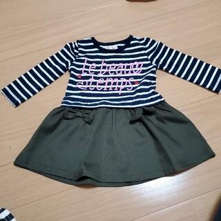 女の子 ロンT チュニック 80(Tシャツ)
